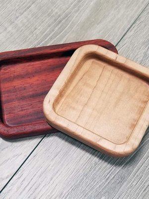 maple and padauk trinket trays
