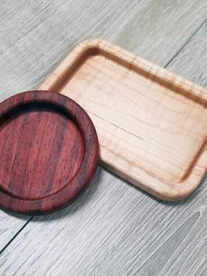 padauk and maple trinket trays